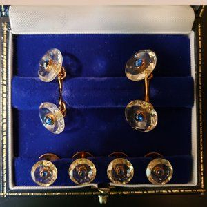 Collector's dream sapphire cufflink and stud set